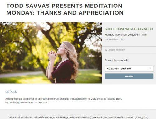 MEDITATION MONDAY – Soho House West Hollywood